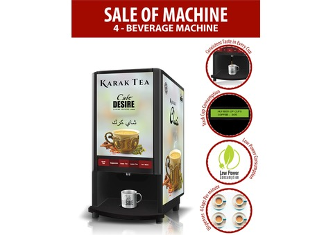 Cafe Desire Coffee and Tea Vending Machine - 4 Lane For Office and Commercial Establishments