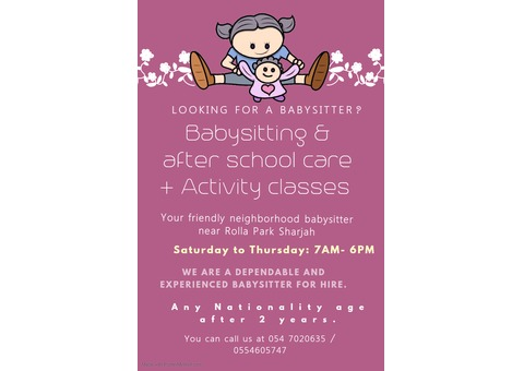 Baby Care and Activity classes