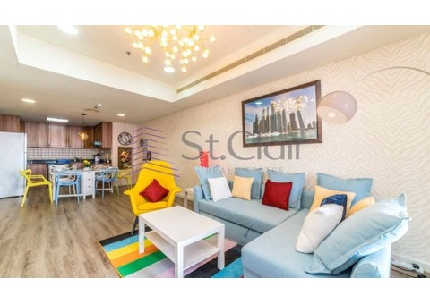 Luxurious Furnished 2 Beds | Full Sea & Palm View