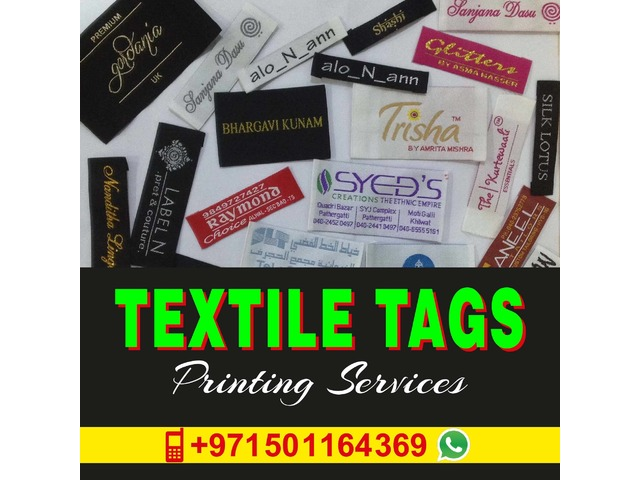 Woven Textile Tags Manufacturing in Sharjah UAE