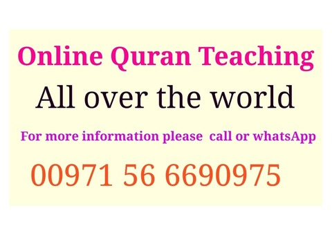Online Quran teaching all over the world