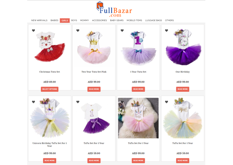 Tutu Sets for Girls. Pay on Delivery