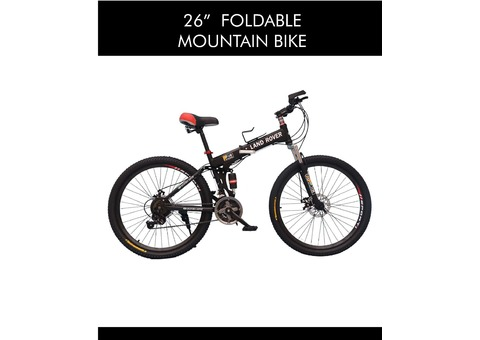 "LAND ROVER 26"" MOUNTAIN BIKE - FOLDING - AED 349"
