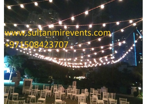 Decoration Rental Lights Services on wedding parties and events