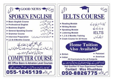 THE BEST SPOKEN ENGLISH AND IELTS COURSE BY MS.KHUSHBOO