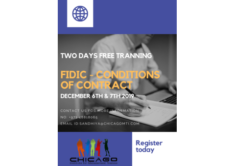 FIDIC Condition of Contract  - 2 Days Training