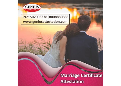 Marriage certificate attestation in uae