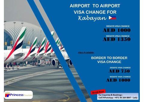 UAE TOURIST VISA & VISA CHANGE PROMO!!