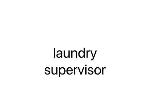 Dubai Job Vacancy for Laundry Supervisor