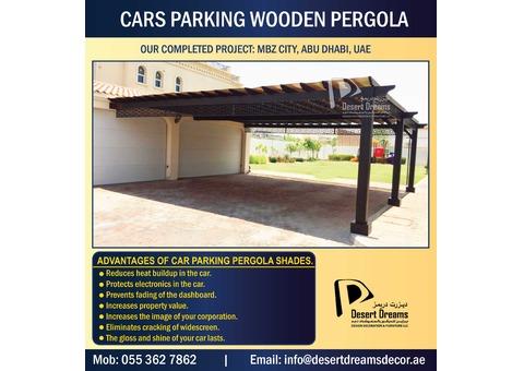 Car Parking Pergola Abu Dhabi | Car Parking Wooden Structure in Uae.