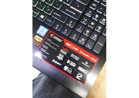MSI GS63VR 6GB 1060 GTX GRAPHICS 16GB RAM 256 SSD 1 TB 1TB HDD