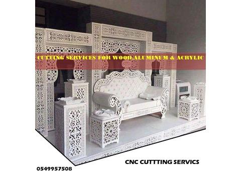 CNC CUT CUSTOMIZED MDF, ALUMINUM, ACRYLIC DECOR PANELS MASHRABIYA