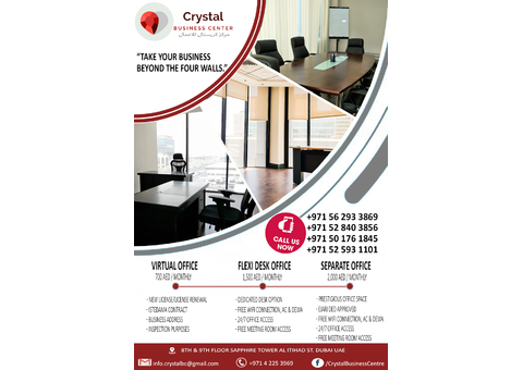 Dubai Office To Rent Professional Business Space info.crystalbc@gmail.com