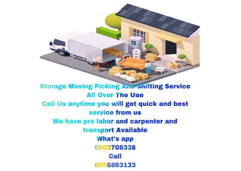 CALL PICKING MOVING SHIFTING AND STORAGE SERVICES UAE