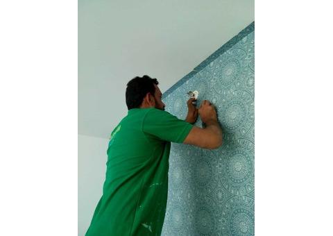 wallpaper fixing services in dubai