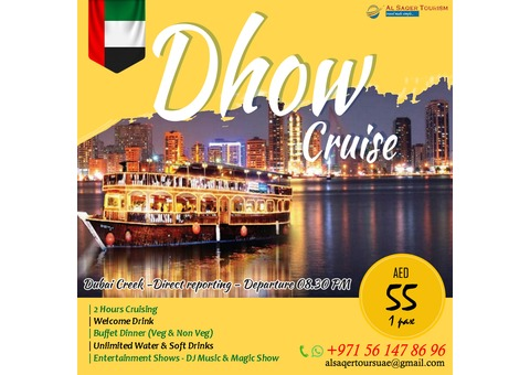 Dhow Cruise - AED 55 Only