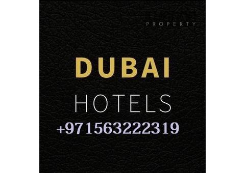 Invest in  Dubai Hotels Call Bilal +971563222319
