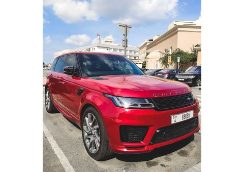 CAR FOR RENT : RANGE ROVER SPORT 2018
