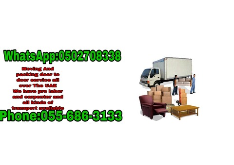 STORAGE & MOVING PICKING SERVICES 055 6863133 ALL OVER UAE