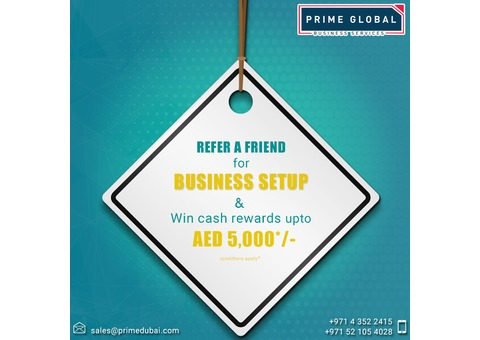 Want to setup a Business in Dubai? Contact Prime Global Today!