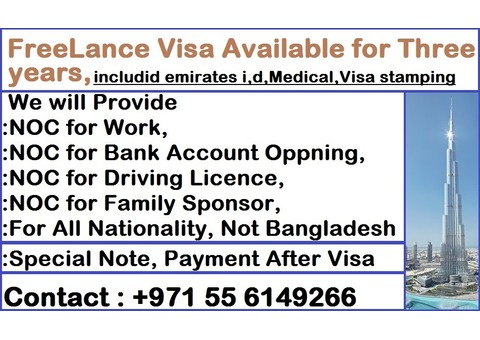 Three years freelance visa available for sale