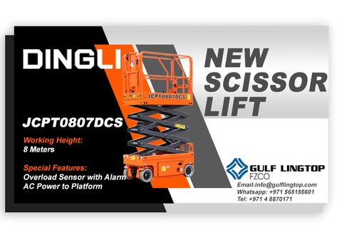 Brand New - 8 M Electric Scissor Lift
