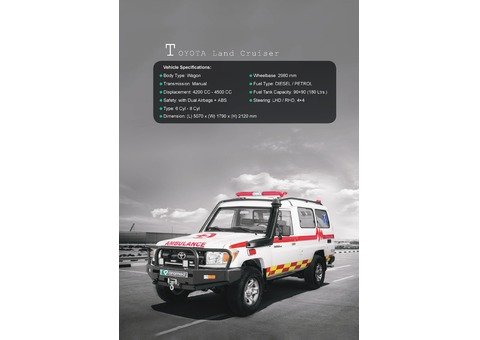 AMBULANCE ON TOYOTA LAND CRUISER HARDTOP W/ ACCESSORIES 2019MY