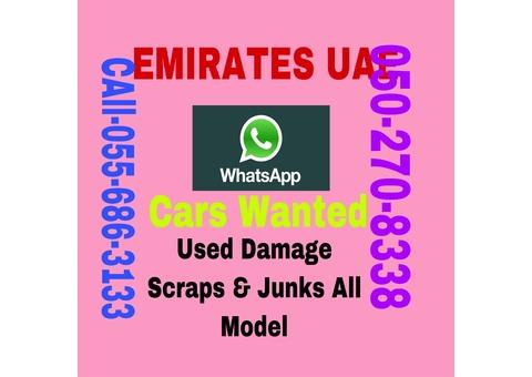 ACCIDENT & SCRAP CARS 055 6863133 WE BUY DAMAGE JUNK ALL MODEL