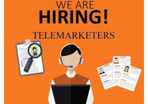 Female Telemarketer required, send interest to ssdu2013(at)gmail(dot)com