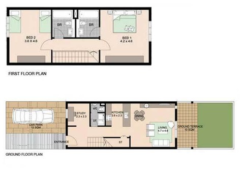 Al Reef Villa for Rent - 02 Bed Room / Desert Village - Down Town - Abu Dhabi