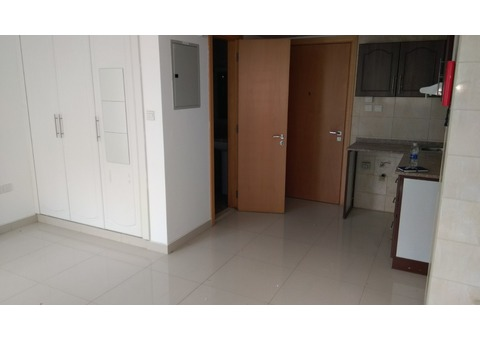Spacious Studio Apartment with balcony, Chiller Free, One Month Free