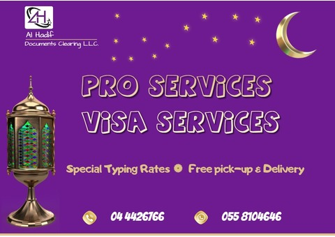 PRO Services and Visa Services