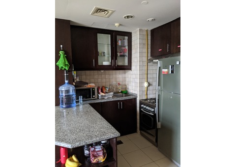 Two rooms apartment with a kitchen and a bathroom
