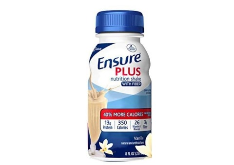 ensure plus nutrition shake with 13 grams of high-quality protein