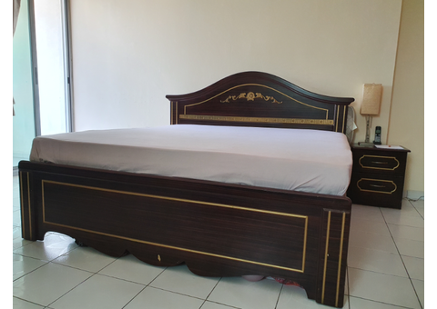 Furniture for Sale (Double Bed, Relaxing Chair, Ladder)