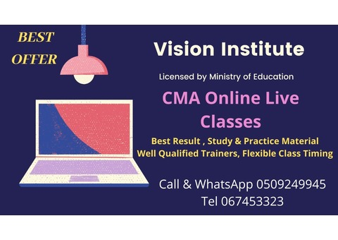 LAST WEEK OF RAMADAN OFFER JOIN CMA CLASSES AT VISION