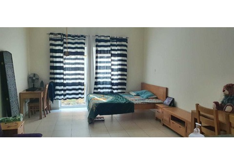 Looking for a Flatmate to share This studio apartment. 1person(1600+bills) if its two AED 1000+bills