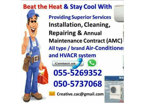 split ac free check 055-5269352 al ain repair cheap gas new used clean central service fixing room