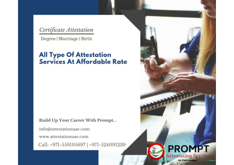 Certificate Attestation Services through Professionals
