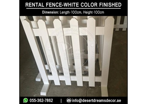 Free Standing Wooden Fence Suppliers in Uae | Portable Fence | Rental Fence Uae.