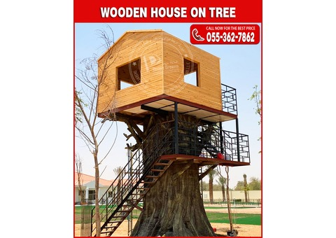 Wooden House on Tree | Wooden House Manufacturer in Uae.