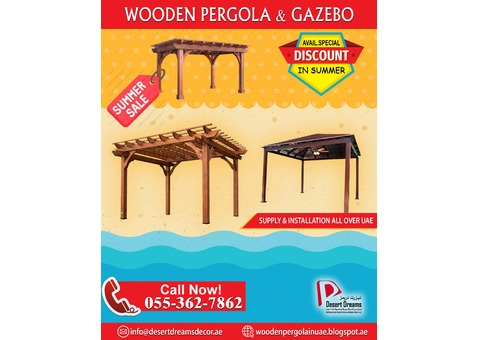 Sun Shades Wooden Pergola Uae | Relief From The Hot Sun in Summer.