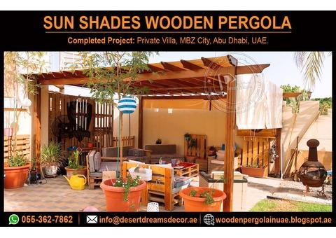 Wooden Pergola Contractor in Uae | Sun Shades Pergola | Special Discount in Summer.