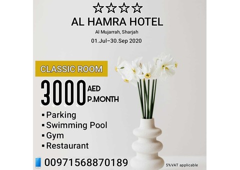 4 Star Hotel Studio with Swimming Pool & Gym