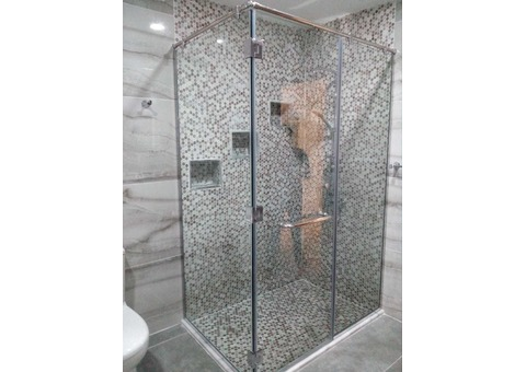 SHOWER GLASS ENCLOSURE WITH INSTALLATION