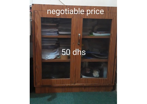 Shoe cupboard and glass cupboard