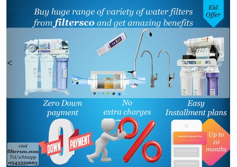 Water purifiers at affordable price on installment with zero down payment