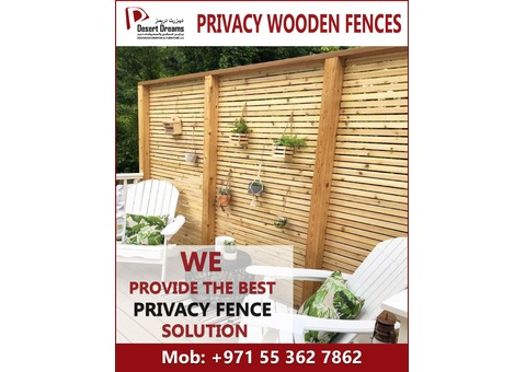 Wooden Slatted Fences Uae | Privacy Slatted Panels in Uae.