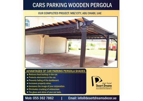One Car Park Pergola | Two Cars Pergola | Large Parking Area Wooden Pergola in Uae.