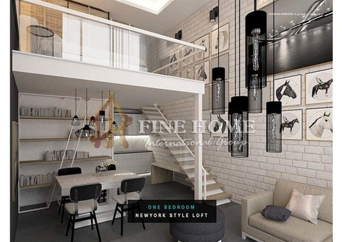 A very flexible payment plan for Fully Furnished Apartment.